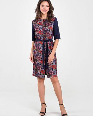 Платье с поясом с цветочным принтом платье-сарафан Mariko