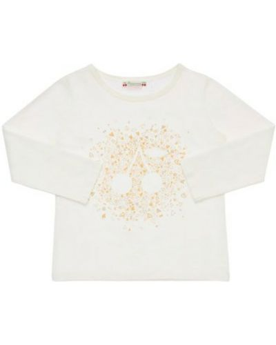 Biała t-shirt Bonpoint