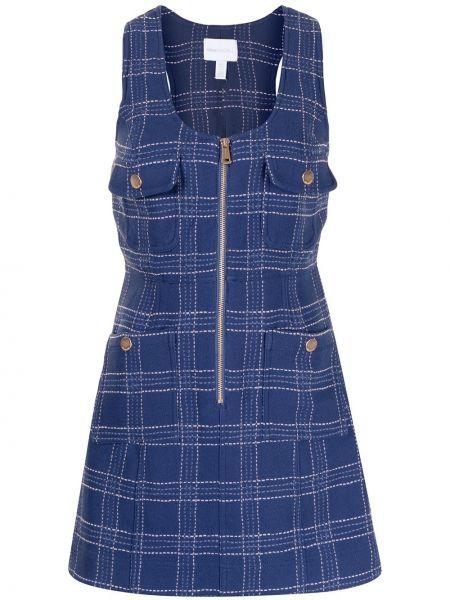 Платье мини трапеция - синее Alice Mccall