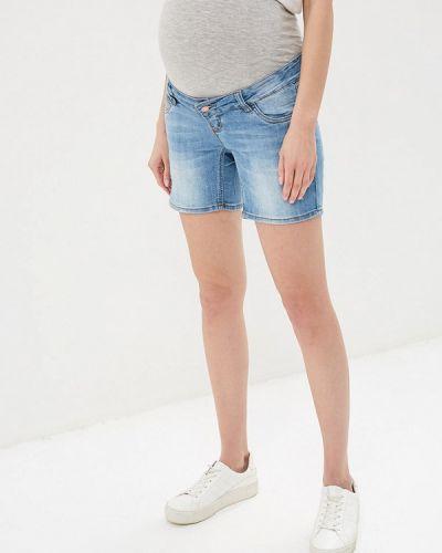 Джинсовые шорты голубой Mama.licious
