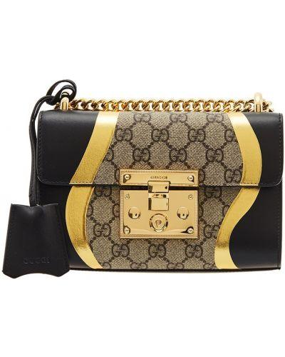Сумка на цепочке маленькая мешок в полоску Gucci