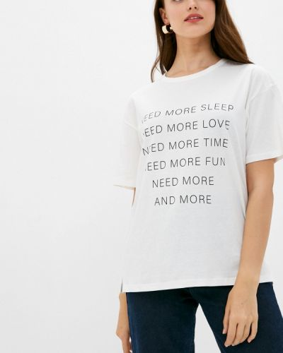 Белая футболка с короткими рукавами Befree