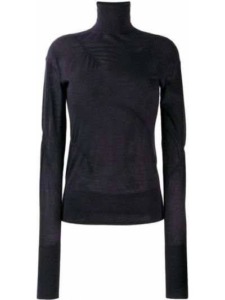 Sweter z falbankami z kaszmiru Helmut Lang