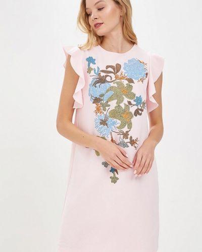 Розовое платье прямое Zarina