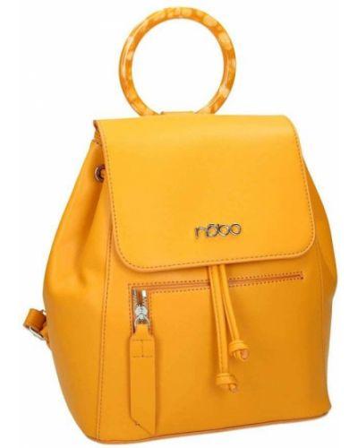 Żółty plecak skórzany miejski Nobo