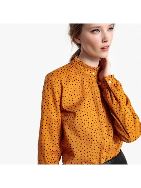 Рубашка с длинным рукавом с воротником-стойкой в горошек Mademoiselle R