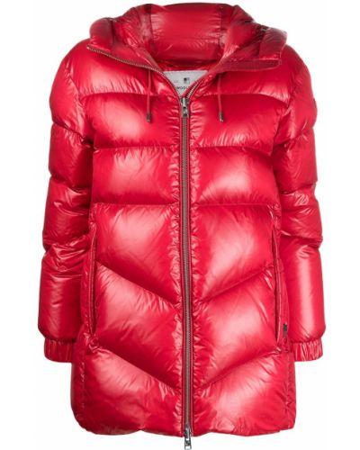 С рукавами красная стеганая куртка на молнии с перьями Woolrich