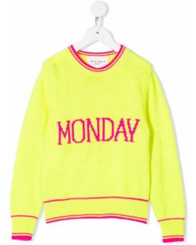 Желтый свитер Alberta Ferretti Kids