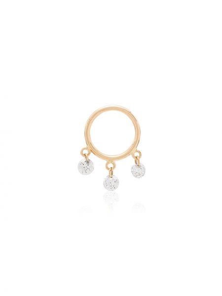 Żółte złote kolczyki z diamentem Persée