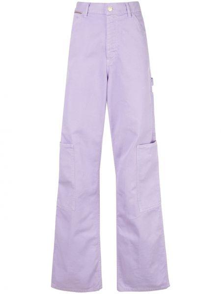 Свободные брюки фиолетовые с поясом Marc Jacobs