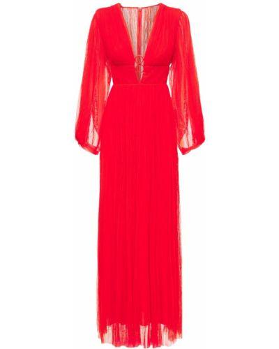 Платье макси длинное - красное Maria Lucia Hohan