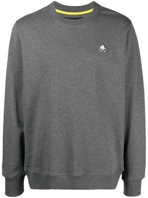 Prążkowana bluza z długimi rękawami bawełniana Moose Knuckles