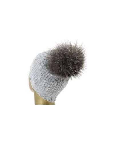 Серая шапка кашемировая Fedeli