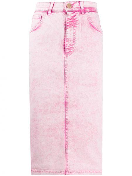Классическая с завышенной талией юбка миди на молнии с разрезом Vivetta