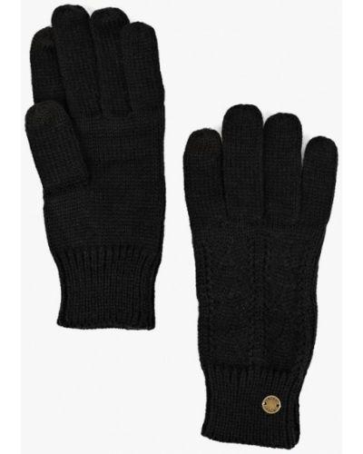 Черные перчатки текстильные Roxy