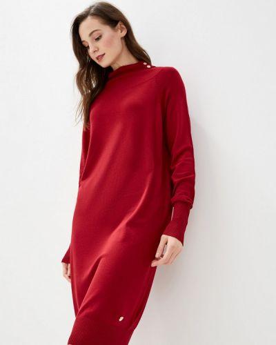 Платье бордовый прямое Gaudi