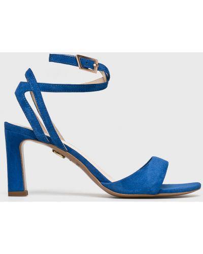 Босоножки на каблуке - синие Baldowski