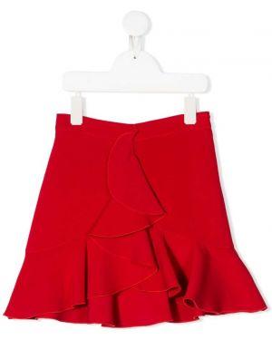 Расклешенная красная блузка Philosophy Di Lorenzo Serafini Kids