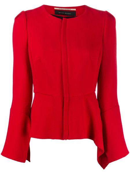 Шерстяной приталенный красный пиджак Roland Mouret