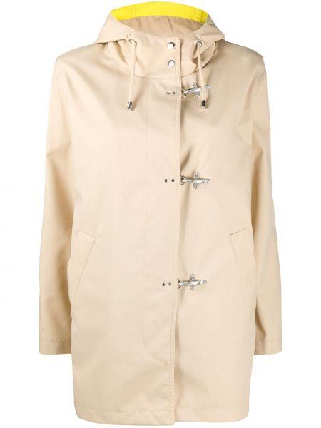 Długi płaszcz z kapturem z kieszeniami Fay