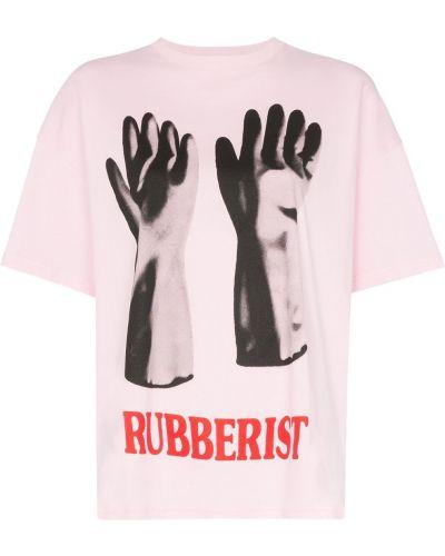 Рубашка с коротким рукавом с принтом розовый Christopher Kane