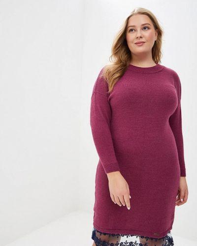 Повседневное платье осеннее фиолетовый Wisell