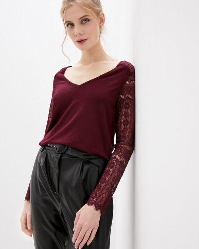 Бордовый пуловер Naf Naf