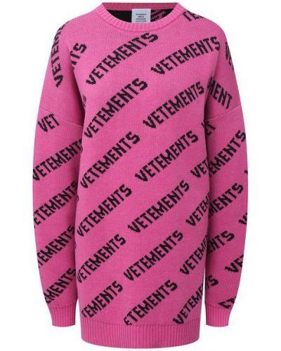 Розовый кашемировый свитер Vetements
