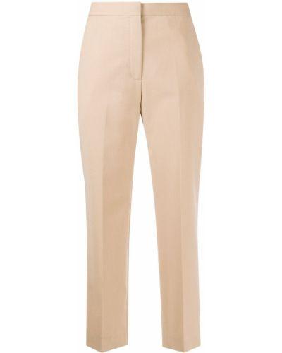 Шерстяные прямые укороченные брюки с карманами на молнии Sandro Paris