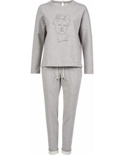 Хлопковый спортивный костюм - серый Peserico