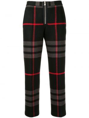 Черные укороченные брюки с воротником с карманами с высокой посадкой Yang Li