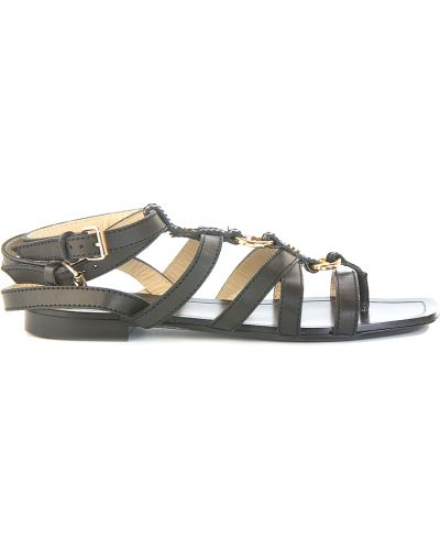 Черные кожаные сандалии Etro