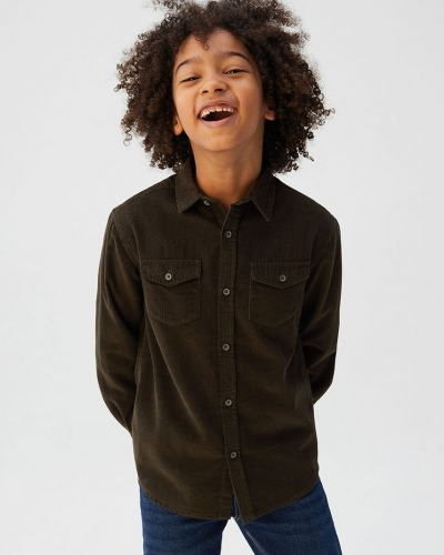 Koszula na przyciskach zielony Mango Kids