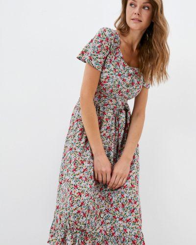 Серое прямое платье Hey Look