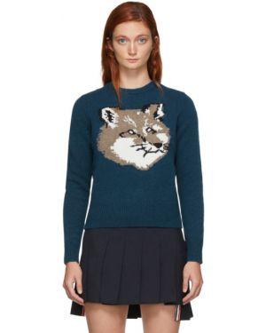 Пуловер шерстяной в полоску Maison Kitsune