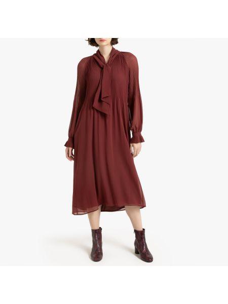 Платье на пуговицах с прозрачными рукавами La Redoute