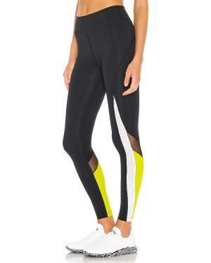 Czarne spodnie z nylonu do pracy Alala