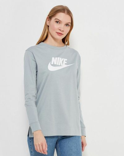 Серый лонгслив Nike