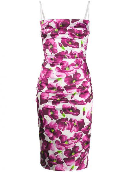 Нейлоновое розовое платье с вырезом на молнии Dolce & Gabbana Pre-owned