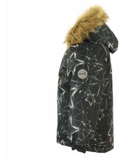 Зимняя куртка черная мембрана Huppa