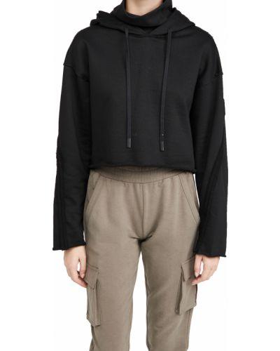 Czarna bluza z kapturem bawełniana Alo Yoga