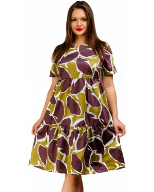 Летнее платье мини с абстрактным принтом Liza Fashion
