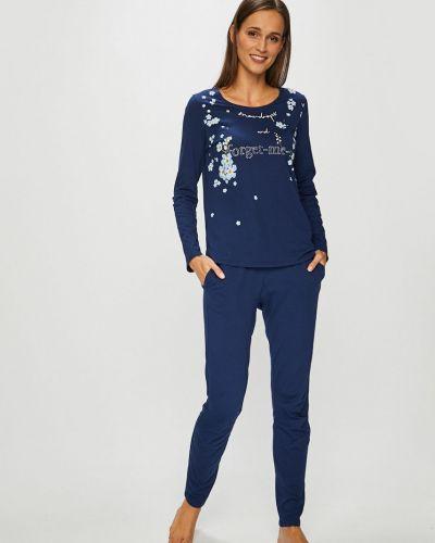 Пижама с брюками с карманами темно-синий Triumph