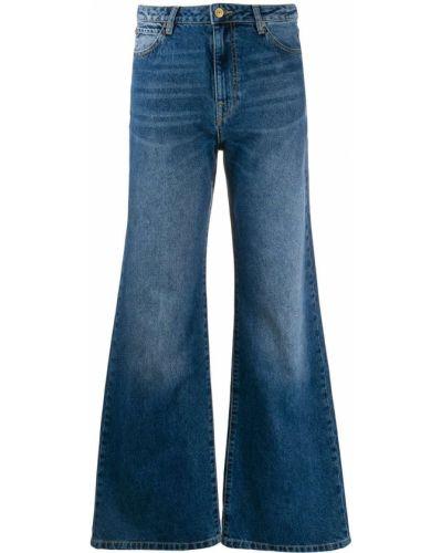 Широкие джинсы mom с накладными карманами Essentiel Antwerp