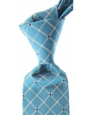 Niebieski krawat z jedwabiu Moschino
