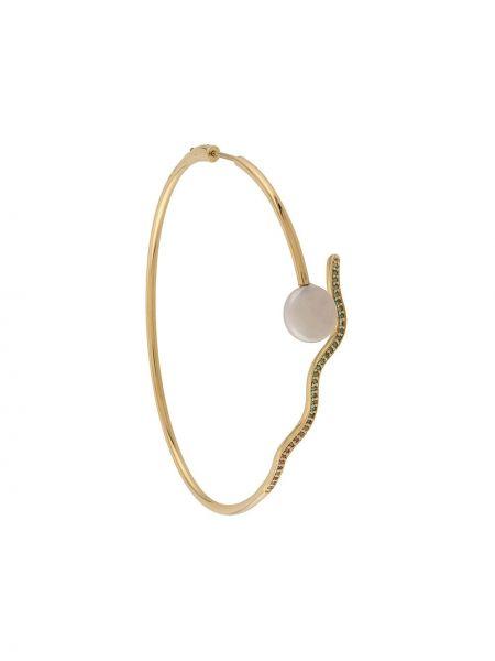 Kolczyki z perłami srebrne ze złota Maria Black