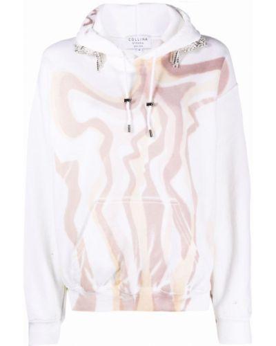 Bluza z nadrukiem z printem - beżowa Collina Strada