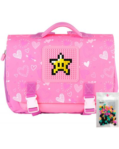 Розовый портфель Upixel