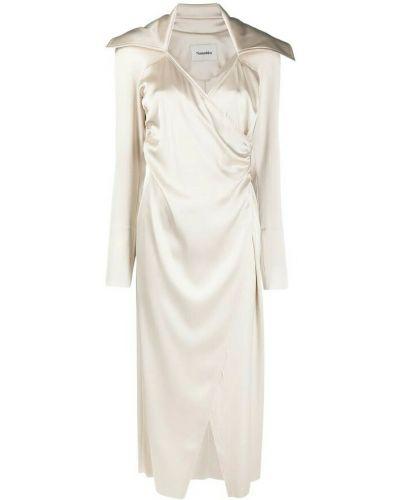 Biała sukienka Nanushka