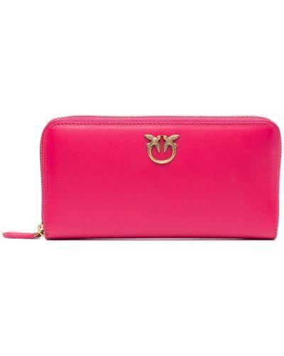 Золотистый розовый кожаный кошелек для монет Pinko
